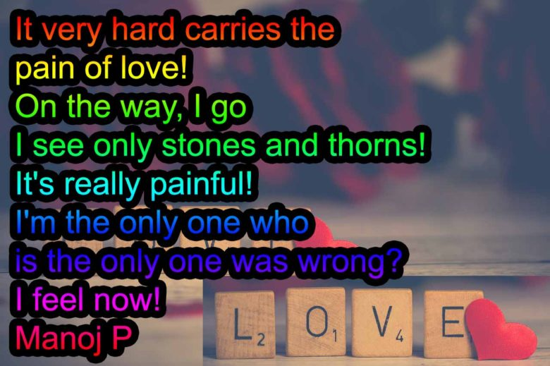 love is a really painful feelings